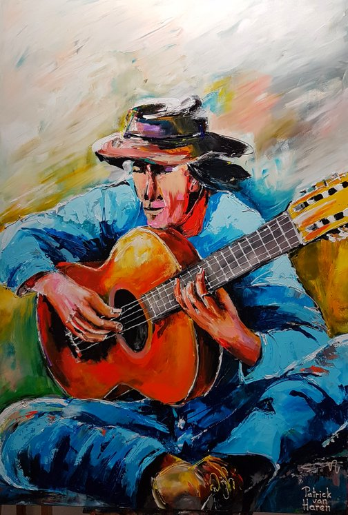 Patrick van Haren Schilderij Playing the Blues